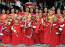 The Maroon Parade: Newar Group Bratabandha