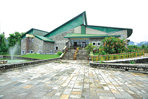 The museum side of Pokhara