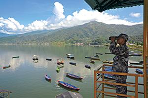 Baywatching in Pokhara