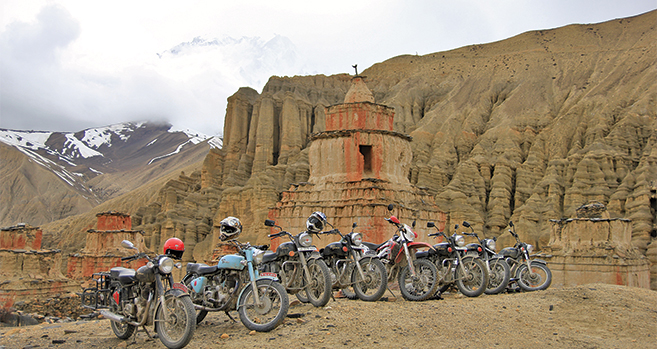 To Lo Manthang  on a Royal Enfield
