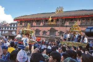 Arresting Indra in Kathmandu