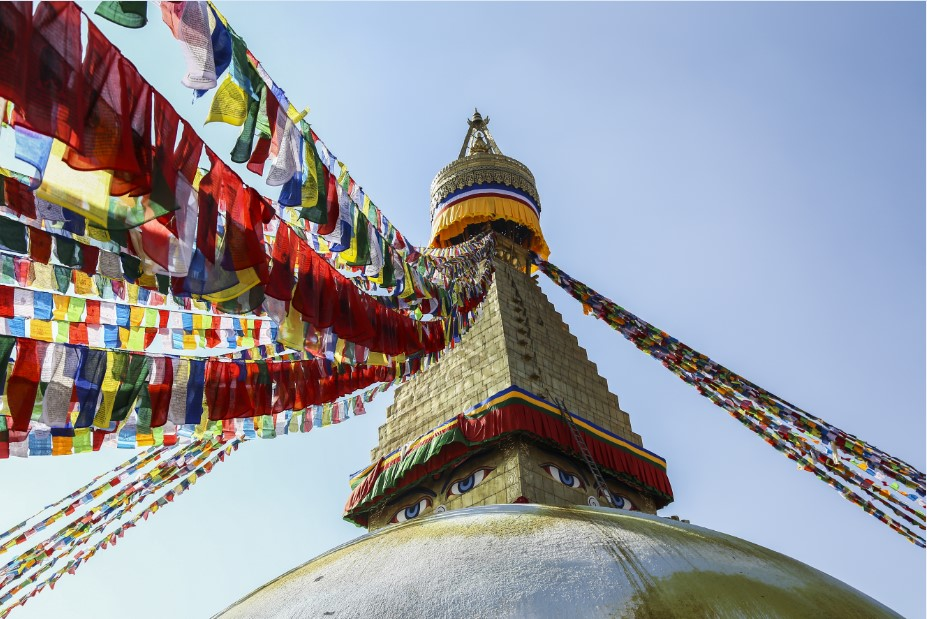 Studying Buddhism in Boudhanath