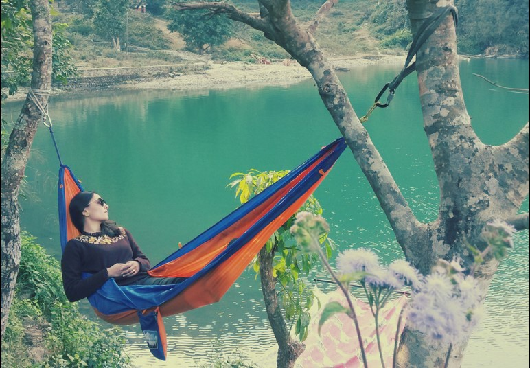Swinging in a Himalayan Hammock