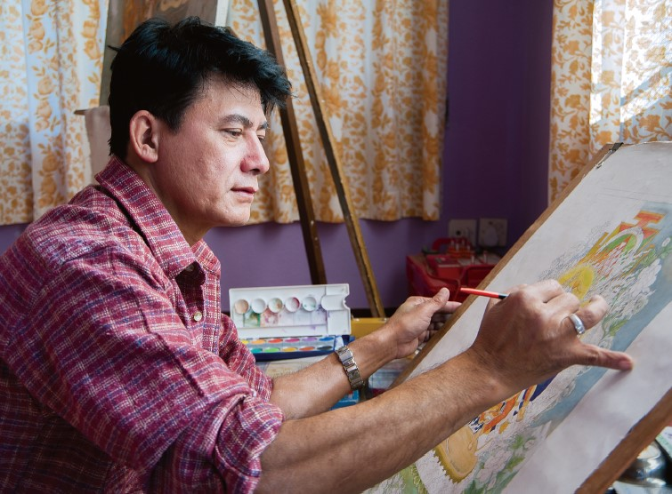 Art that Moves You: Meeting Paubha Master Artist Udaya Charan Shrestha