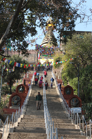 How Many Steps to Swayambhu?