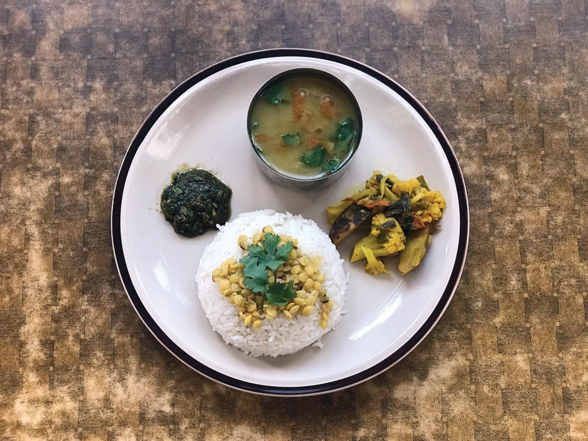 Dal-bhat, the ultimate vegan food